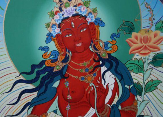 tiffani gyatso red tara mural dakini as art